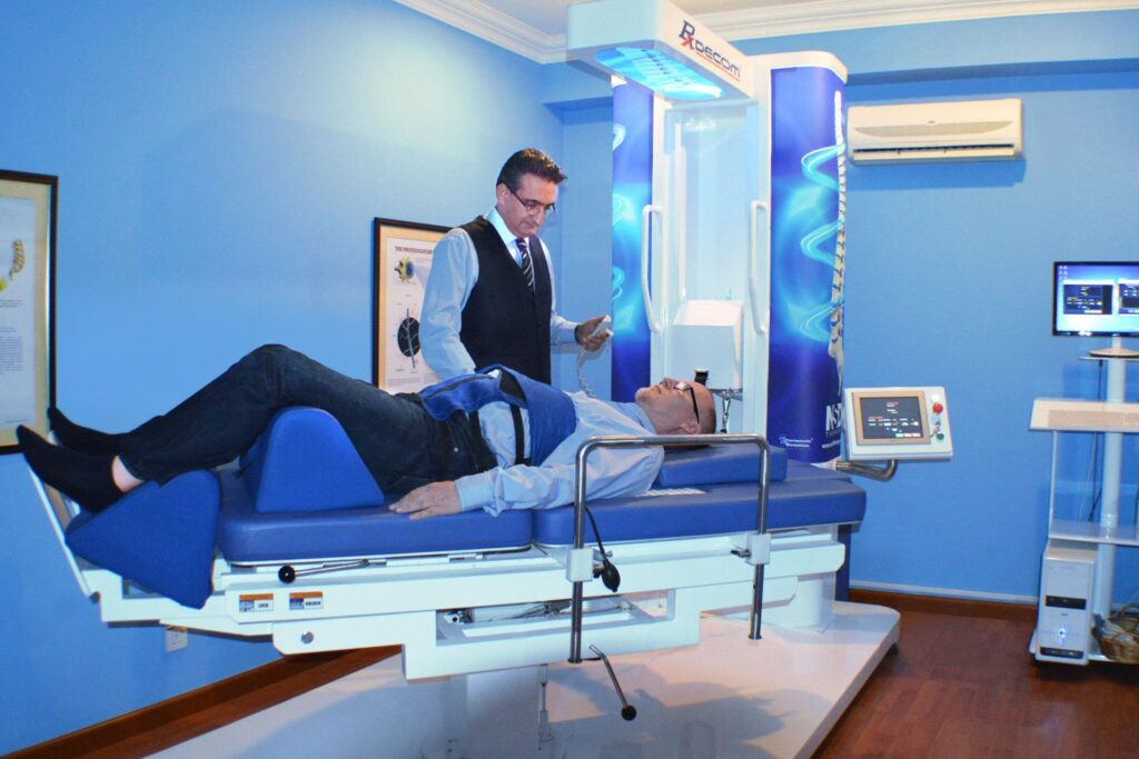 Spinal decompression therapy a physiotherapy procedure for slipped disc, neck pain, and back pain